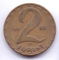 MAGYAR 1988: 2 Forint, KM 591 - Hungría