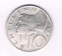 10 SCHILLING 1958 OOSTENRIJK /5214/ - Autriche