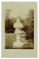 Ref 1378 - Early Real Photo Postcard - Garden Ornament Dovecote Bird Feeder Fountain - Fotografía