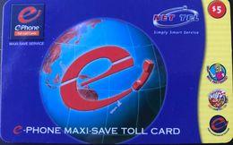 NOUVELLE-ZELANDE  -  PREPAID - Net-Tel - $ 5 - New Zealand