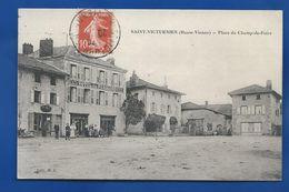 SAINT-VICTURNIEN   Place Du Champs-de-Foire    Hôtel Du Péricord   Animées      écrite En 1909 - France