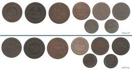 Empire Chérifien   Maroc  LOT De 8 Monnaies En Bronze - Marokko