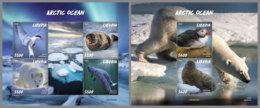 LIBERIA 2020 MNH Arctic Oceans Artische Tierwelt Océans Arctiques M/S+S/S - OFFICIAL ISSUE - DHQ2027 - Arctic Wildlife