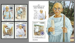 SIERRA LEONE 2020 MNH Mahatma Gandhi Salt March Salzmarsch Marche Du Sel 4v+S/S - OFFICIAL ISSUE - DHQ2027 - Mahatma Gandhi