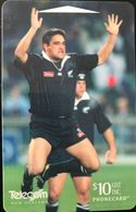 NOUVELLE-ZELANDE  -  Phonecard  - Rugby  -  All Blacks  -  $ 10 - New Zealand