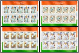 SIERRA LEONE 2020 MNH Mahatma Gandhi Salt March Salzmarsch Marche Du Sel M/S - OFFICIAL ISSUE - DHQ2027 - Mahatma Gandhi
