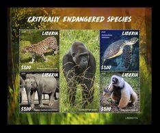 Liberia 2020 Mih. 7655/58 Fauna. Critically Endangered Species MNH ** - Liberia