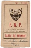 Patro St Jean Berckmans De Theux Fédération Nationale Des PATROS  Carte De Membre  F.N.P.au Nom De Caro - Cartes