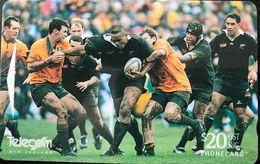 NOUVELLE-ZELANDE  -  Phonecard  - Rugby  -  All Blacks  -  $ 20 - New Zealand