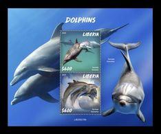 Liberia 2020 Mih. 7665/66 (Bl.826) Fauna. Dolphins MNH ** - Liberia