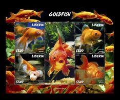Liberia 2020 Mih. 7667/70 Fauna. Fishes. Goldfish MNH ** - Liberia