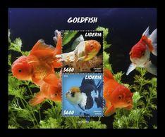 Liberia 2020 Mih. 7671/72 (Bl.827) Fauna. Fishes. Goldfish MNH ** - Liberia