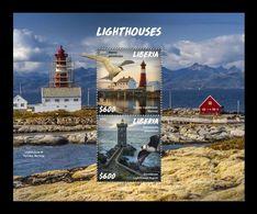 Liberia 2020 Mih. 7677/78 (Bl.828) Lighthouses MNH ** - Liberia
