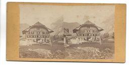 SUISSE HOTEL VICTORIA KANDERSTEG ? PHOTO STEREO CIRCA 1860 /FREE SHIPPING R - Fotos Estereoscópicas