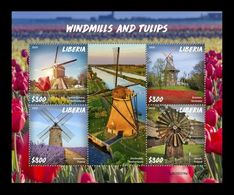 Liberia 2020 Mih. 7679/82 Windmills And Tulips MNH ** - Liberia