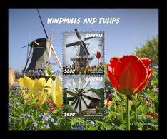 Liberia 2020 Mih. 7683/84 (Bl.829) Windmills And Tulips MNH ** - Liberia