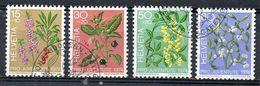 SUISSE. N°972-5 Oblitérés De 1974. Plantes Vénéneuses. - Piante Velenose