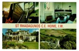 Ref 1379 - 1987 Nigh Multiview Postcard - St Rhadagunds C.E. Home - Ventnor Isle Of Wight - Ventnor