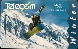 NOUVELLE-ZELANDE  -  Phonecard  - Winter  -  $ 5 - New Zealand