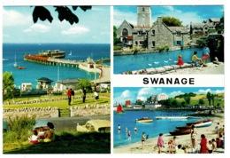 Ref 1379 - John Hinde Multiview Postcard - Swanage Dorset - Swanage