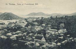 D.W.I. Danish West Indies  St Thomas  View Of Frenchmans Hill  Edit Edw. Fraas . Colons Français - Vierges (Iles), Amér.