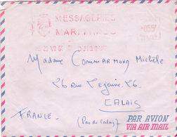 Lettre Djibouti>Calais1964 Messageries Maritimes - Storia Postale