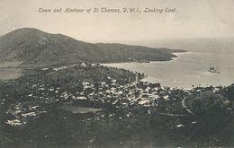 D.W.I. Danish West Indies  St Thomas  Town Looking East  Edit Beretta - Vierges (Iles), Amér.