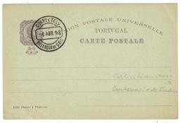 Ref 1380 - 1898 Portugal Postal Stationery Card - Centenario Da India - Villa Nova De Gaya - Entiers Postaux