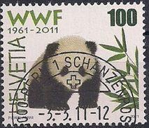 2011 Schweiz Mi. 2189 FD- Used  Riesenpanda (Ailuropoda Melanoleuca) - Used Stamps