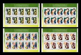 Sierra Leone 2020 Mih. 11788/91 Microbiologist Alexander Fleming. Flora. Mushrooms (4 M/S) MNH ** - Sierra Leone (1961-...)