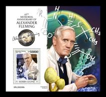 Sierra Leone 2020 Mih. 11792 (Bl.1853) Microbiologist Alexander Fleming. Flora. Mushrooms MNH ** - Sierra Leone (1961-...)