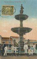 Guayaquil Hand Colored  Plaza Del Centenario Calle De Velez . Stamped Not P. Used . Sanchez , Ballen Y Pichincha - Ecuador