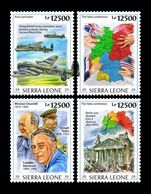 Sierra Leone 2020 Mih. 11798/801 World War II. Yalta Conference. Churchill. Roosevelt. Stalin MNH ** - Sierra Leone (1961-...)