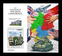 Sierra Leone 2020 Mih. 11802 (Bl.1855) World War II. Yalta Conference. Churchill. Roosevelt. Stalin MNH ** - Sierra Leone (1961-...)