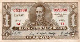 BOLIVIA 1 BOLIVIANO 1928 P-128a5  Xf+aUNC  SERIE  T4 - Bolivia