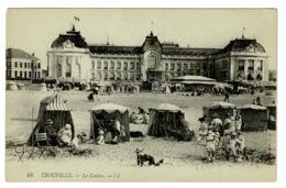 Ref 1381 - Early LL L.L. Postcard - Le Casino & Beach Huts - Trouville France - Trouville