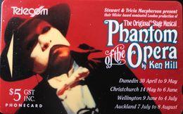 NOUVELLE-ZELANDE  -  Phonecard  - Phantom Of The Opera -  $ 5 - New Zealand