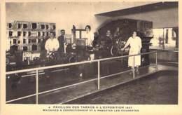 EXPOSITION - 75 - PARIS 1937 - Machines à Confectionner Et à Paquetter Les Cigarettes - CPA - Seine - Exposiciones