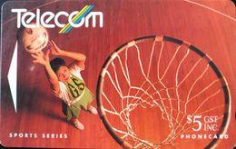 NOUVELLE-ZELANDE  -  Phonecard  - Basket -  $ 5 - New Zealand
