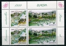 RC 18027 MONACO N° 2203 / 2204 EUROPA 2 PAIRES NEUF ** TB - Monaco