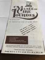 Plaquette Sur Le Musée De Cire De Lourdes - Religion & Esotérisme