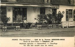 62 ARDRES - CAFE DE LA TERRASSE - ROUTE DE ST OMER - Ardres