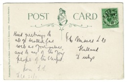 Ref 1382 - 1911 New Year Postcard - Caister Norfolk 1/2d Rate Local? - 1902-1951 (Rois)