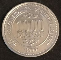 TURKMENISTAN - 1000 MANAT 1999 - KM 13 - Président Saparmyrat Nyýazow - Turkménistan