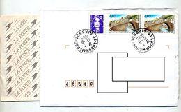 Lettre Recommanfée Ludon Medoc Sur Pont Nyons - Marcophilie (Lettres)