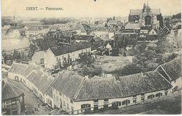 DIEST : Panorama - RARE VARIANTE - Cachet De La Poste 1914 - Diest