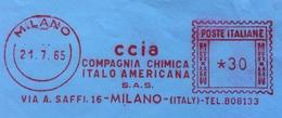 CHIMICA - AFFRANCATURA ROSSA  - C C I A  - COMPAGNI CHIMICA ITALO AMERICANA  SAS - MILANO - 6. 1946-.. Repubblica
