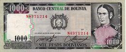 BOLIVIA 1000 BOLIVIANOS 1982 P-167a.3 XF+AUNC - Bolivien
