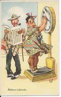 Humour - Gil - Obésité - Pin-up - Femme Grosse - Balance Indiscrète - Dos Scanné - Humour