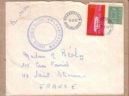 """NORVEGE - LETTRE POUR SAINT ETIENNE , CAD ET GRIFFE """" POLARSIRKELEN ARTIC CIRCLE NORWAY - 1967 - Polar Philately"""